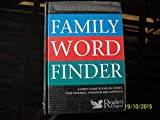 FAMILY WORD FINDER (READERS DIGEST)