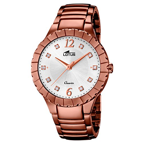 Lotus Women's Watch Lotus Trendy Analog Fashion Quartz Watch Stainless Steel Bracelet Bronze UL18413/1