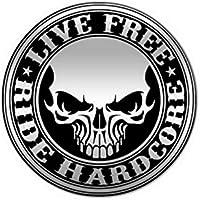 anstecker pin Schädel biker motorrad live free skull