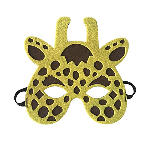 Starall Kinder Halloween Masken Niedlichen Tier Lion Tiger Fox Maskerade Party Kostüm Cosplay Prop (Giraffe)