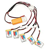 EACHINE 5PCS E010 3.7V 150mAh Battery USB Charger Set RC Quadcopter Spare Parts
