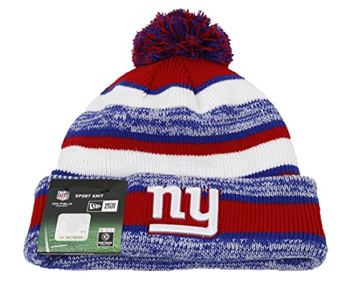 NEW YORK GIANTS - NEW ERA BEANIE - NFL 14 SPORT KNIT GAME - BLUE / WHITE / RED (Nfl Beanie-mütze)