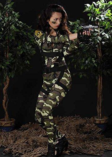Dress Fancy Army Damen Kostüm - Damen Sexy Fallschirmjäger Armee Kostüm M (UK 10-12)