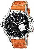 Hamilton Herren Analog Quarz Uhr mit Leder Armband H77612933