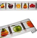 Unbekannt Wandbordüre - selbstklebend -  Früchte / Obst  - 2,5 m - Wandsticker / Wandtattoo - Bordüre Aufkleber - für Küche / Wohnzimmer - Kinder & Erwachsene - Fruch..