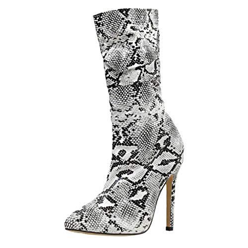 Combat Boot Kostüm - ODRD- Schuhe Frauen Ankle Zip Boots Schuhe Sexy Snake Printed Pfennigabsatz Casual Boots Schuhe Sneaker Stiefel Stiefeletten Combat Hallenschuhe Worker Boots Laufschuhe Sports