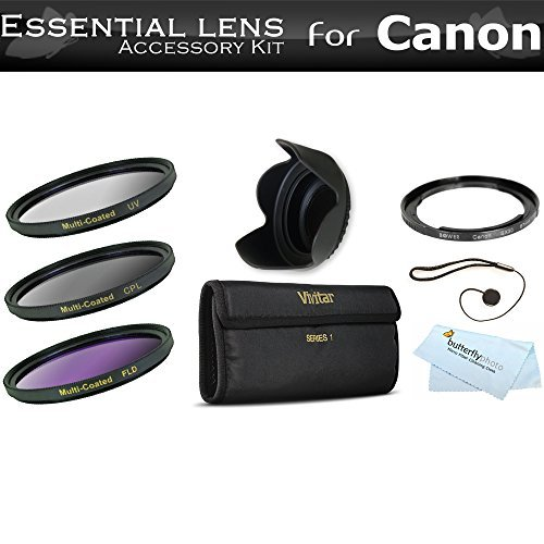 67mm Filter Kit For The Canon Powershot SX30 IS SX40 HS SX50 HS SX60 HS SX520 HS SX530 HS SX540 HS Digital Camera Includes Necessary Filter Adapter (Replaces Canon FA-DC67A) + Lens Hood + More  available at amazon for Rs.5288