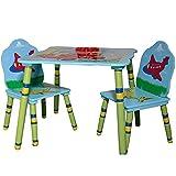 Table Chaises Garcon Avion Voiture Bois Bleu Chambre D'enfant Meuble Qualite 46 x 60...