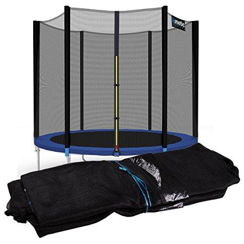 Kinetic Sports Trampolinnetz 275 cm Sicherheitsnetz ErsatznetzSchutznetz für 6 Stangen Außenliegend