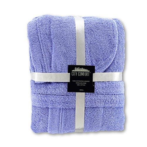 Accappatoio da donna lussuoso in spugna, 100% cotone, perfetto regalo di Natale Purple