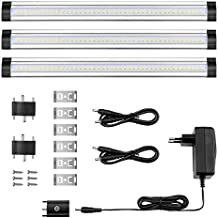 LE Barras LED 900lm 12W=24W Fluorescente Blanco cálido Luces para muebles Pack de 3