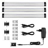 Lighting EVER 1800013-WW-EU - Lampes LED Encastrées pour Armoire Blanc Chaud 3000K - Lot de 3
