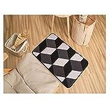 LFF.FF Teppich Schlafzimmer Bett Matte Teppich Küche Herbst Lange Streifen Rutschfester Matte Eingang Cube Illusion Teppich - Ein 80 x 50 cm (31 x 20 Zoll)