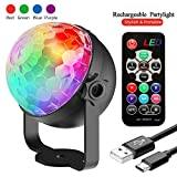 Disco Lights, Rechargeable Disco Ball Lights 4 Colours RGBP Party Lights Strobe Lights