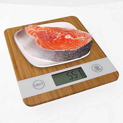 Digitale Smart Weigh Küchenwaage aus Bambus - 6