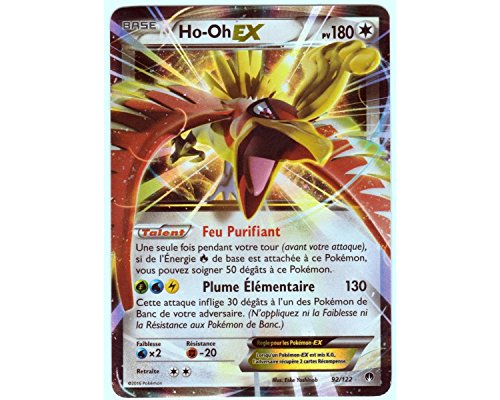 Karte Pokémon 92/122ho-oh EX Holo 180PV–Serie XY Bruch Turbo Xy9–NEU FR selten