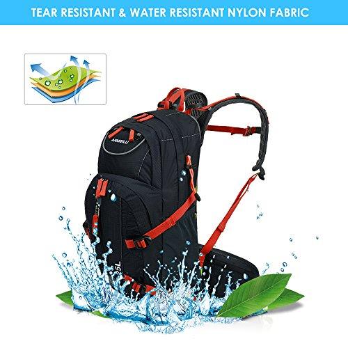 Lixada 25L Fahrradrucksack für Reisen Bergsteigen Wasserabweisend mit Regen Abdeckung #1