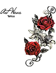 "Tatouage Temporaire ""Red Roses"" - ArtWear Tattoo - B0371 M"