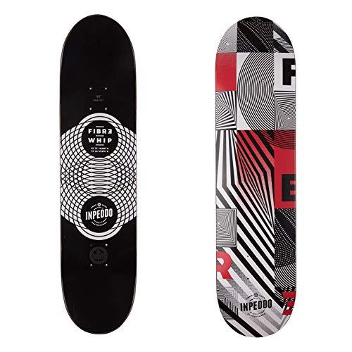 "Inpeddo Skateboard Deck Fiber Whip red 8.0\"""