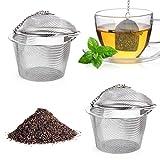 LetiStore 2X Teesieb Für Tasse, Becher oder Teekanne - Tee Ei Teekugel Aus Edelstahl - Teeei Infuser Teefilter Für Losen Blatt- Früchte-Tee