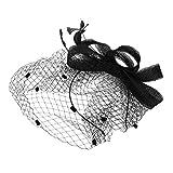 8706fa6c53ae8 Peluquería Mujer Sombrero Boda Novia Fascinator Elegante Diadema Fascinante  Nupcial Voilette Malla Diadema para cóctel Boda