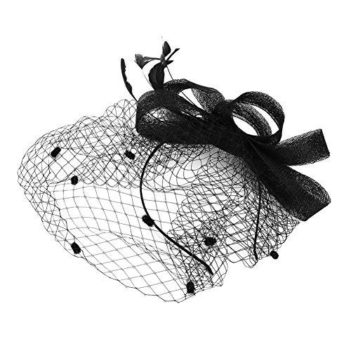 Fascinator Frauen Damen Mädchen Haarschmuck aus Mesh vintage Haar Clip Kopfbedeckung mit Haarklammer Kopfschmuck Pillbox-Hut für Tea Party Fasching Karneval Cocktail Royal Ascot Kirche Jockey Club - Hüte Braut Mutter Der