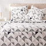 AmazonBasics Parure de lit avec housse de couette en satin, 260 x 240 cm / 65 x 65 cm...