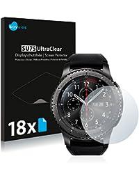Savvies Schutzfolie für Samsung Gear S3 Frontier [18er Pack] Folie Displayschutzfolie - Displayfolie klar