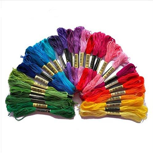 30UNIDs Fäden bunt Traditionelle für Nähen, Sticken, hochwertige Kugelschreiber Magico Needle Punching Krativen Kreationen diese Fäden von chipyhome