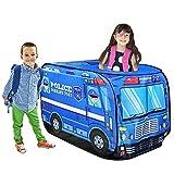 Polizia antincendio Macchina pop-up Gioca Tenda durevole Casina Kiddie - Facile pop-up e ripiegabile con più porte Gioco divertente interattivo Toddlers adatto Ragazze dei ragazzi per interni ed ester