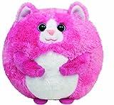 TY 7138006 - Tumbles Ball Katze Stoffball Beanie Ballz, pink 12 cm