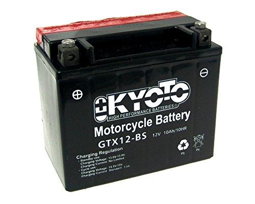 Batteria Kyoto GTX12-BS MF senza manutenzione Kawasaki ZR-7 750 F ZR750FF anno 1999-2004
