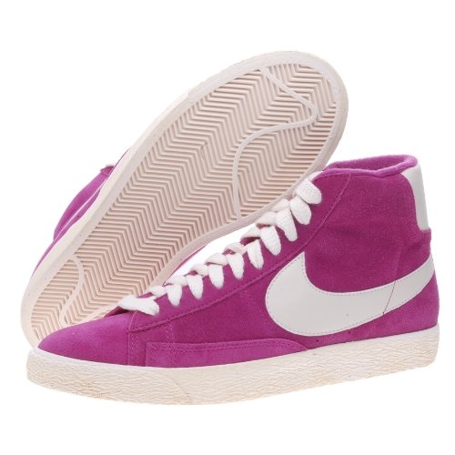 Nike Hi Top Trainers Zapatos para Mujer Blazer Mid Suede Vintage Rave Fucsia/Natural