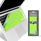 iBenzer Macaron Series Keyboard Cover for Macbook Pro 13 15 17 with or w out Retina Display Macbook Air 13 and iMac Wireless Keyboard Luminous Green