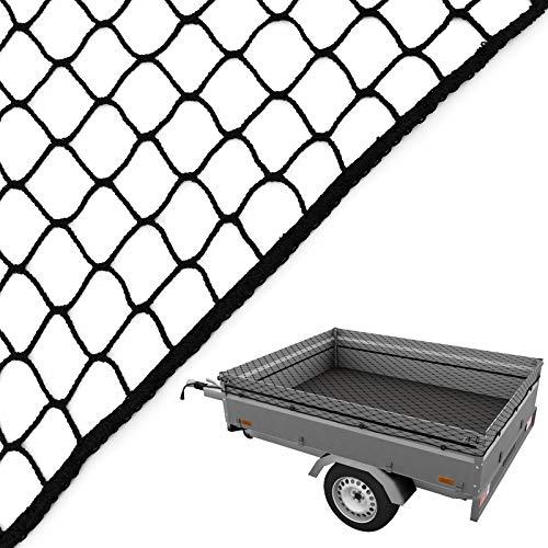 Caretec Anhängernetz 3,5 x 4,5 m Gepäcknetz Abdecknetz Pkw Anhänger Netz Sicherung Ladungssicherung