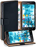 MoEx® Étui Folio à Support vidéo Compatible Huawei G Play Mini | Fente pour Argent/Cartes, Noir