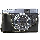 First2savvv XJPT-X20-D01 noir PU cuir étui housse appareil photo numérique pour Fuji FujiFilm Finepix X20.X10