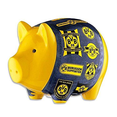Borussia Dortmund Sparschwein / Spardose / Sparbüchse / Piggy Bank - Porzellan BVB 09