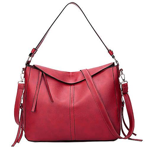 Bfmyxgs Stylische Tasche für Frauen Mädchen Big-Bag Quasten vielseitige Umhängetasche Messenger Tasche Rucksack Schultertasche Handtasche Totes Münze Tasche Taille Beutelpackung Brust