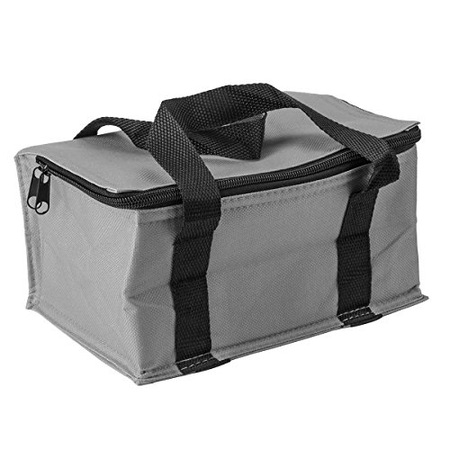 Bolsa de almuerzo aislada de gran capacidad, plegable, bolsa de almuerzo para...