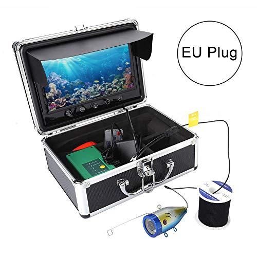 Unterwasserkamera,tragbare 9in 1000 TVL LCD-Monitor-Unterwasserfisch-Sucher-Sonar-Fischen-Kamera 15M mit 30 PC IR LED-Lichtern(EU) (Canons 12-megapixel-kamera)