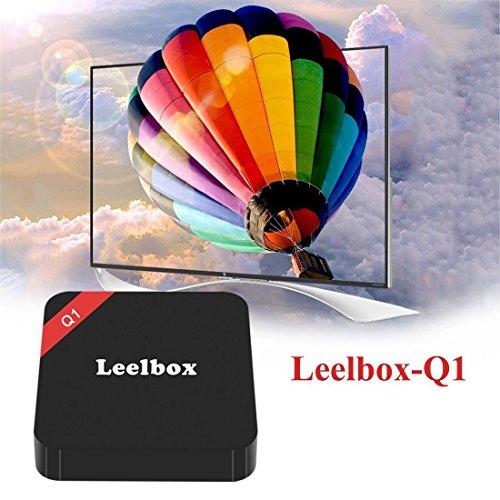 2016 Leelbox Android TV Box Neueste Modell Q1 Android TV BOX Kodi 16,1 Android 5.1 Vorinstallierte RK3229 Quad Core Miracast unterstuetzt 4K * 2K H.265 ,3D, 2.4G Wi-Fi LAN Media Player - 5