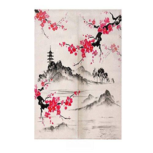 Black Temptation Cortina Tradicional Japonesa del Dormitorio de la Cortina de Noren de la Entrada Japonesa del Estilo Chino, 12