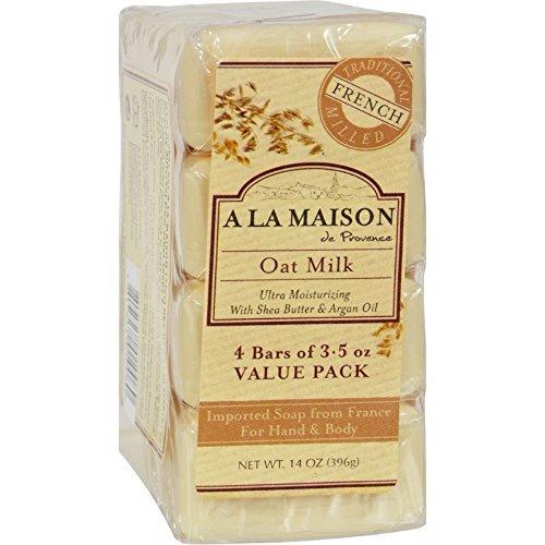 Bar Soap, OAT Milk, Value, 4 Ct (Multi-Pack) by a la Maison