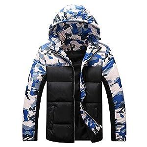 Oasics Camouflage Daunenjacke Herren Herbst und Winter Print Pullover Langarm Kapuzenjacke Jacke M-4XL