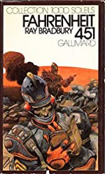 Fahrenheit 451 Collection 1000 soleils Gallimard Couverture de Bilal de Bradbury Ray