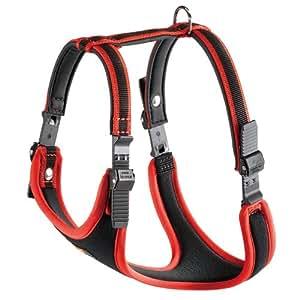 Ferplast Ergocomfort Nylon Padded Dog Harness Small Red/Black