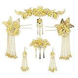Topjin - Tiara de aleación chapada en oro y plata para novia, accesorio para el pelo hecho a mano