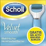 Scholl Velvet Smooth elektrischer Hornhautentferner Express Pedi - Mit gratis GelActiv Einlegesohle für High Heels - 1 Gerät inkl. 1 Rolle + 1 Schuheinlage