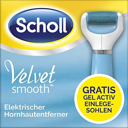 Scholl Velvet Smooth elektrischer Hornhautentferner Express Pedi - Mit gratis GelActiv Einlegesohle für High Heels - 1 Gerät inkl. 1 Rolle + 1 Schuheinlage (Dr. Scholls Heels)